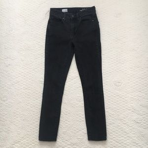 GAP High Rise Skinny Faded Black Jeans